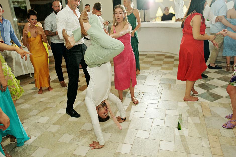 wedding in mykonos best party