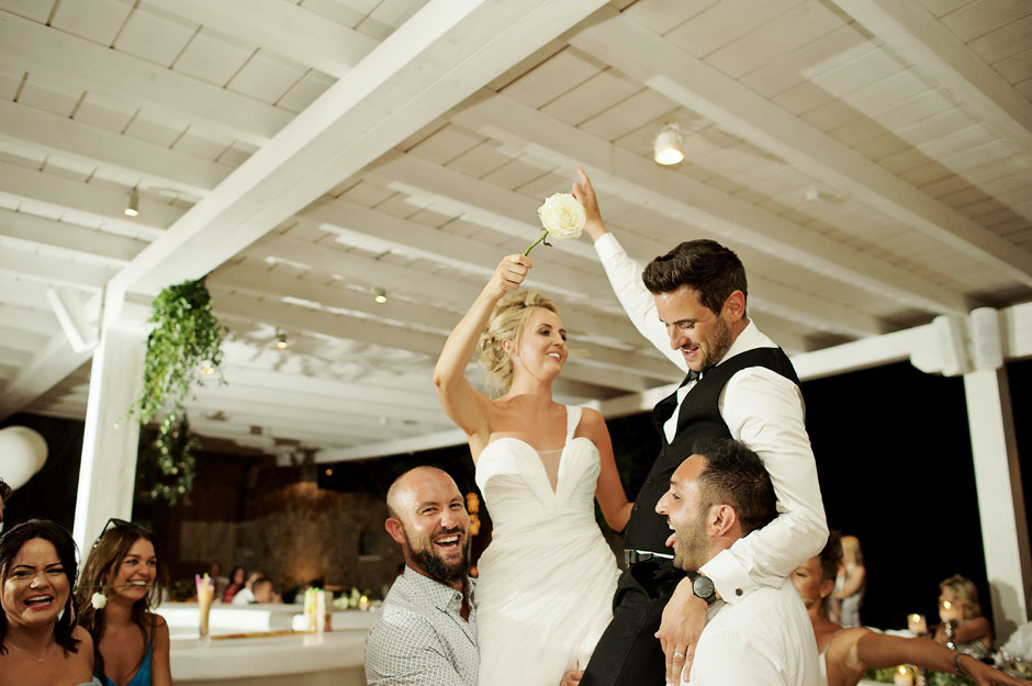 wedding in mykonos first dance