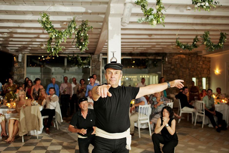 wedding in mykonos greek dancers