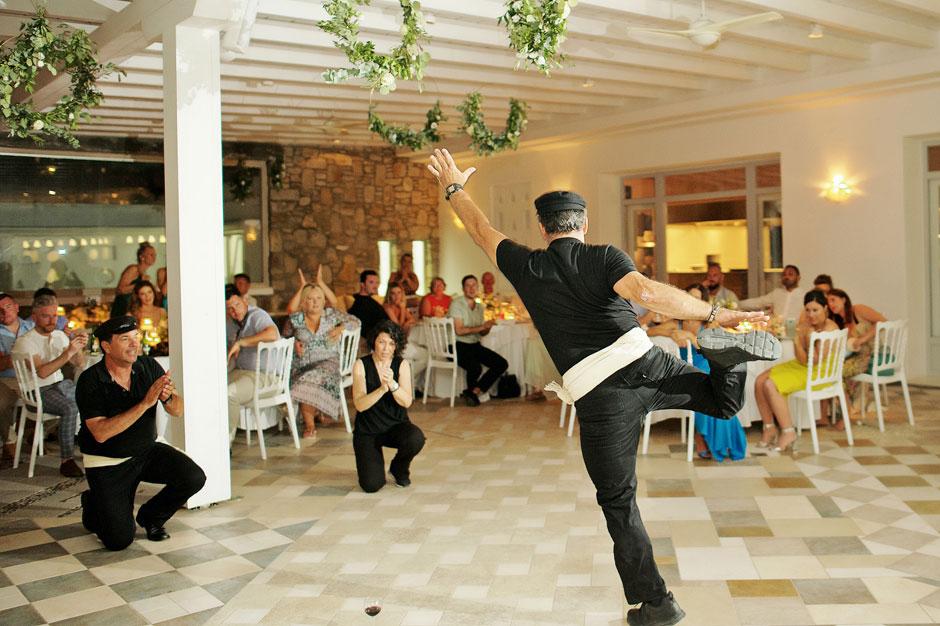 wedding in mykonos greek dancing