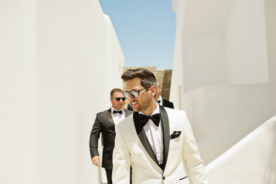 wedding in mykonos - the groom