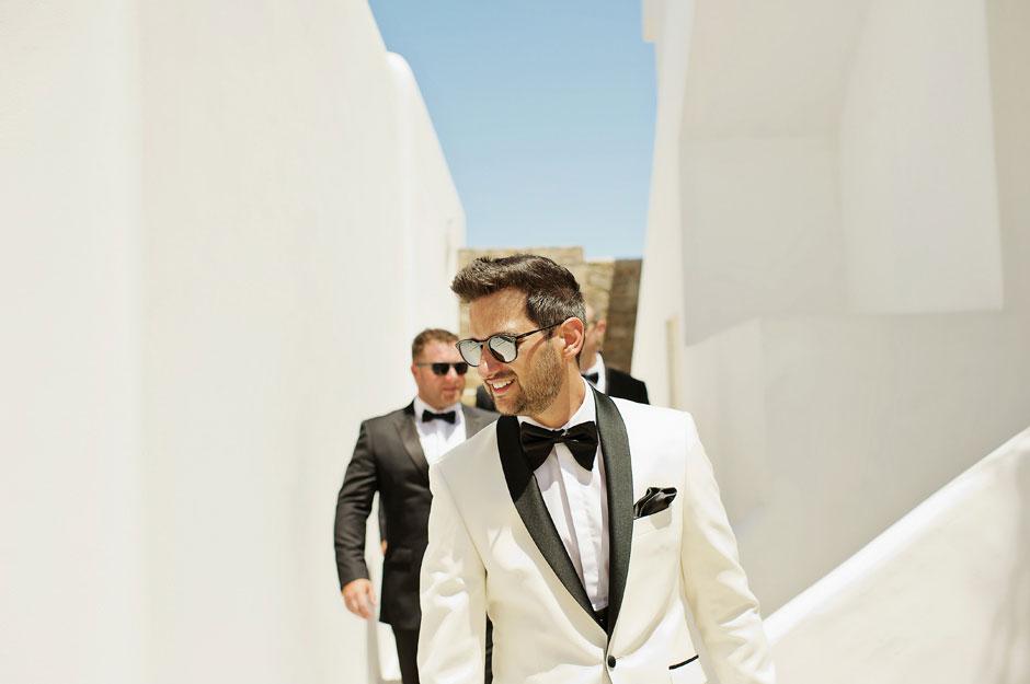 wedding in mykonos groom
