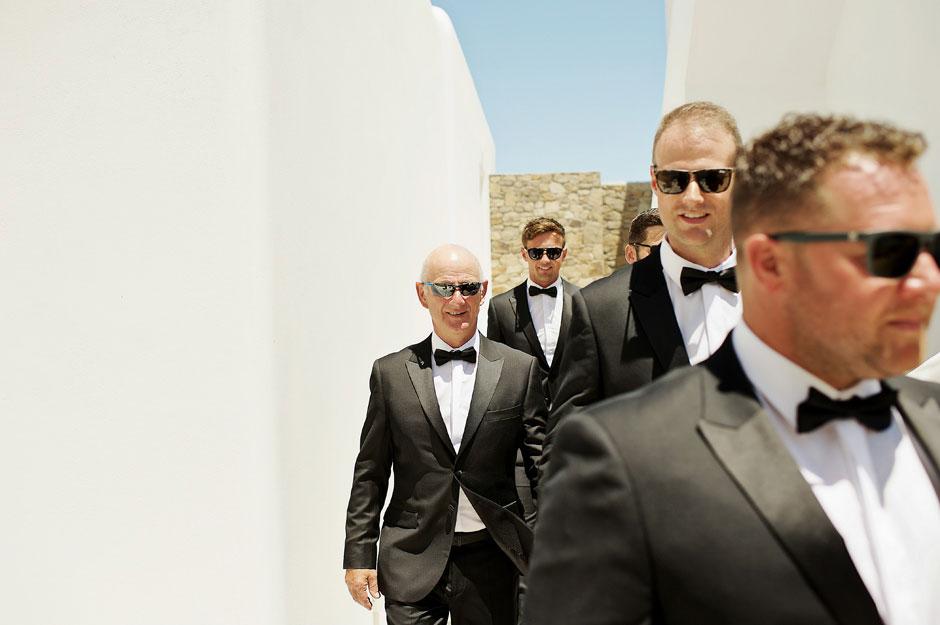 wedding mykonos groomsman photos