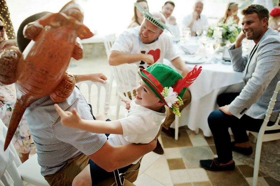 wedding in mykonos guest party