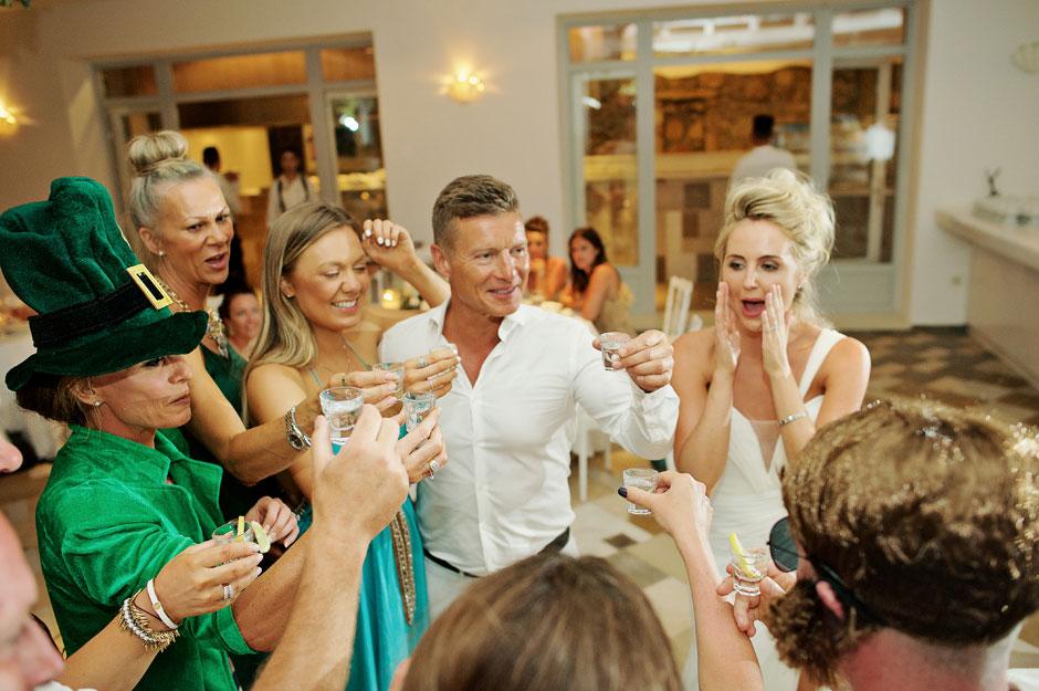 wedding party at saint John hotel in mykonos