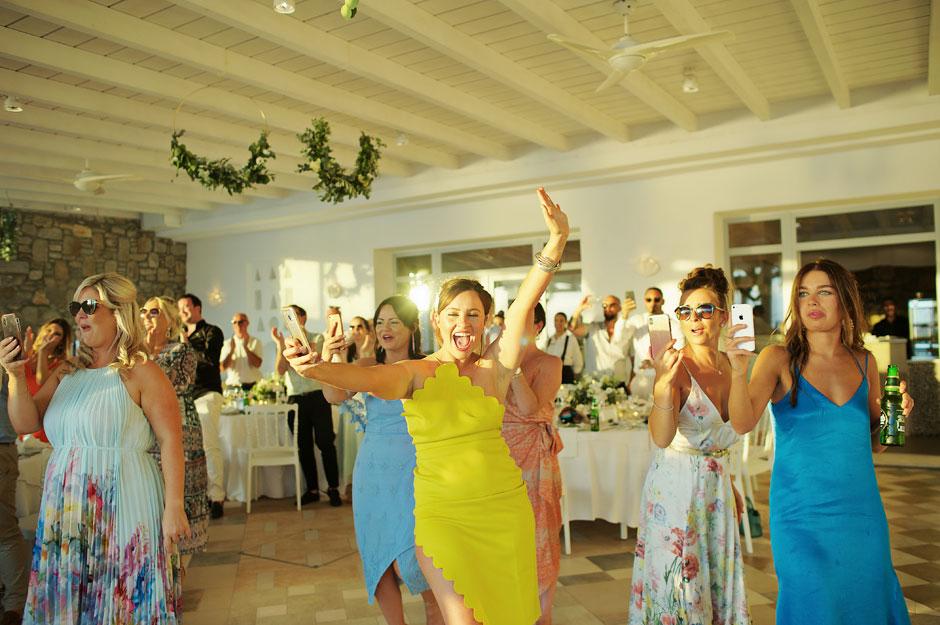 wedding party is starting in mykonos st John hotel