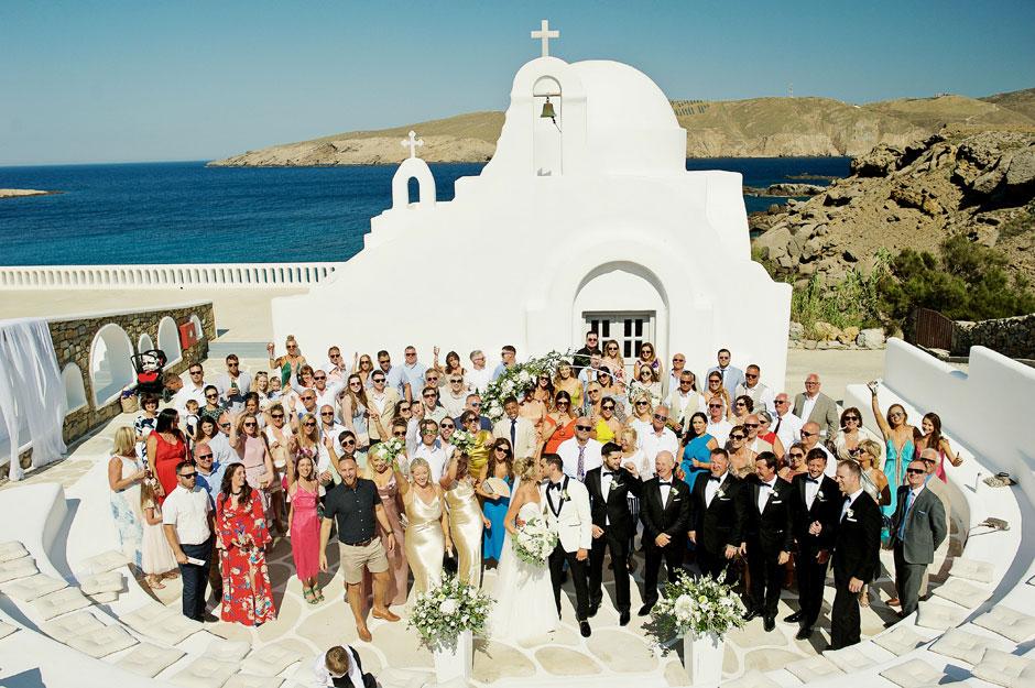 wedding photo in mykonos star hotel