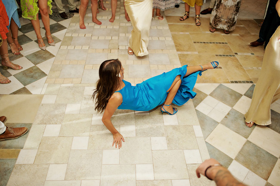 wedding reception dancing in mykonos st John hotel