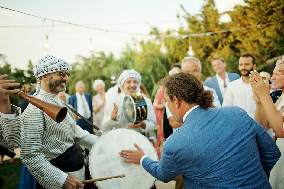 zaffe wedding party in naxos villas paradise