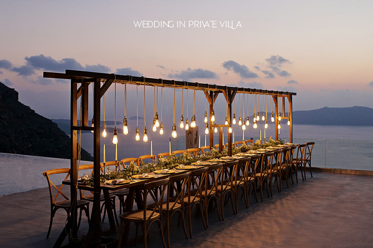 wedding in a private villa