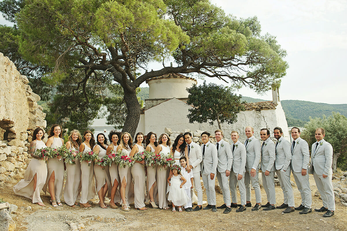 boho style wedding in greece