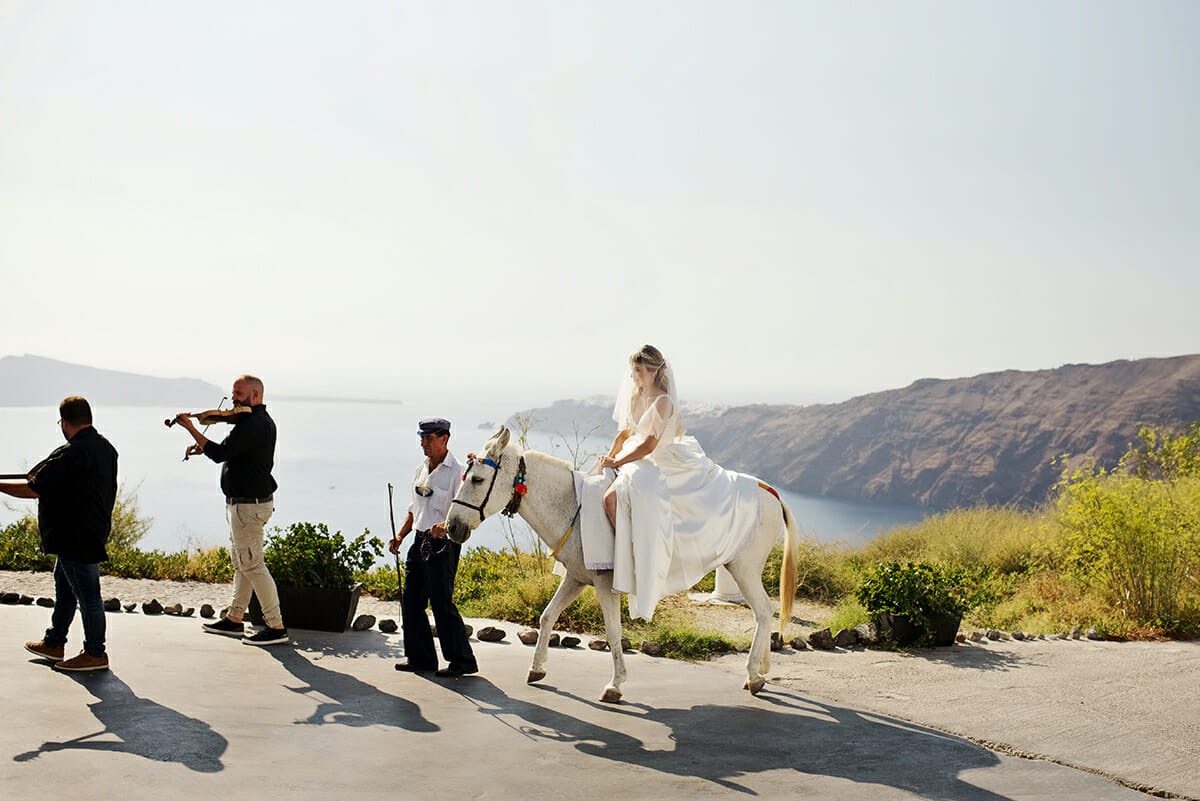 santorini boho wedding