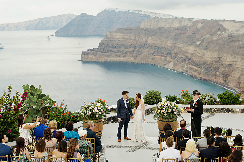 santorini intimate wedding