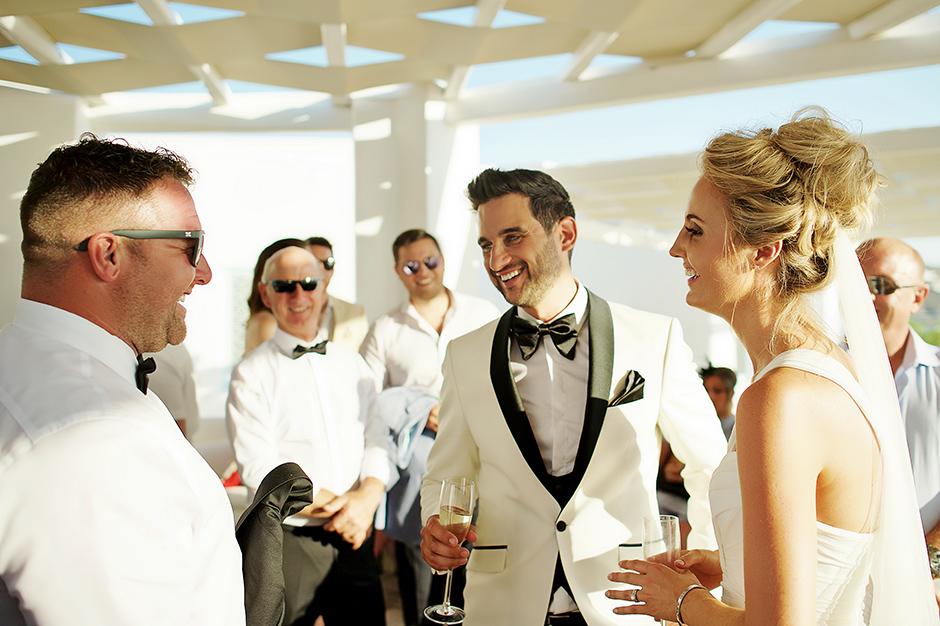 wedding party bride groom